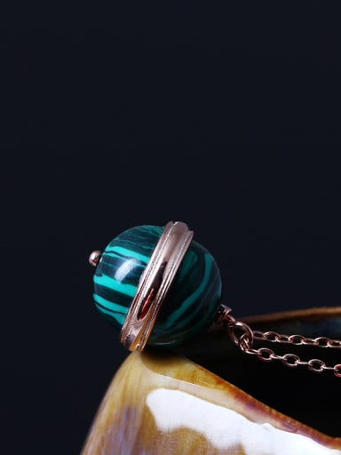 Rose Gold Plated Ball Necklace