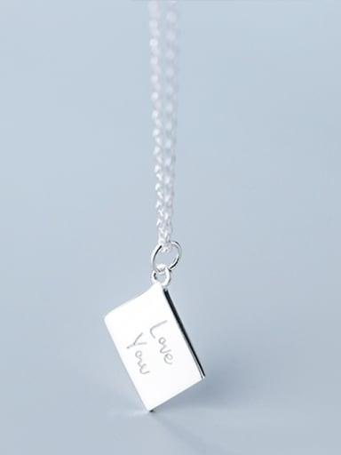 925 Sterling Silver With  Classic Love letter Geometric Necklaces