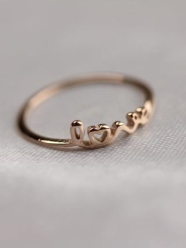 Letter Pattern Fashion Titanium Ring