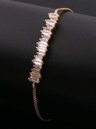 Rectangle Zircon Stretch Bracelet