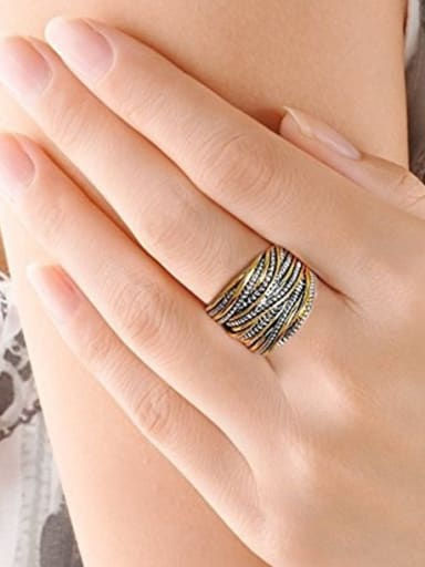 Alloy With Antique Gold Plated Vintage Rings