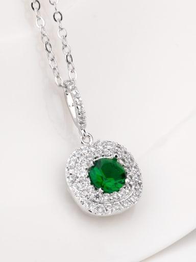 Copper zirconium AAA zircon semi-precious stone colorful necklace