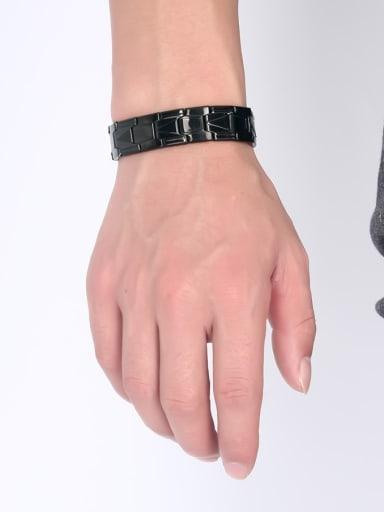 Personality Black Gun Plated Stainless Steel Bracelet