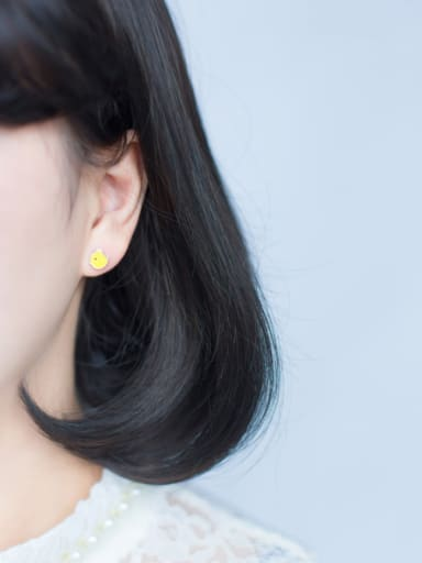 S925 silver  Little Yellow Chick stud Earring
