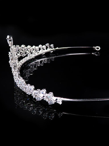Special High Quality White Zircons Copper Material Hair Accessories