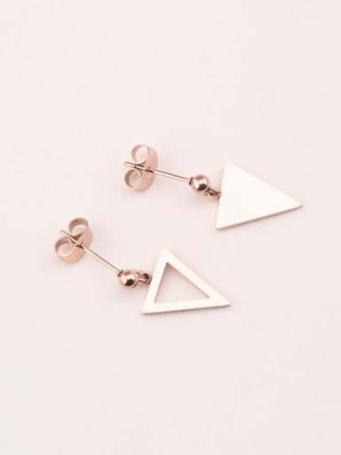 Simple Triangle Asymmetric Titanium Earrings