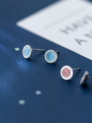 925 Sterling Silver Delicate Round Stud Earrings