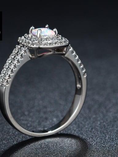 Square AAA Zircons Opal Alloy Women Ring