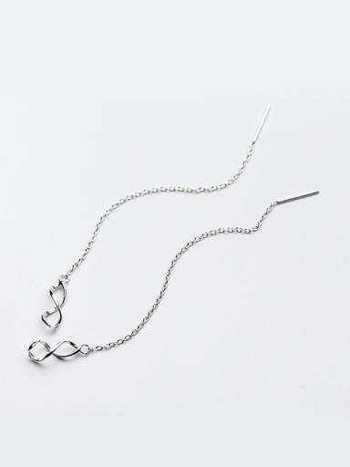 Fashionable Figure Eight Shaped S925 Silver Line Earrings