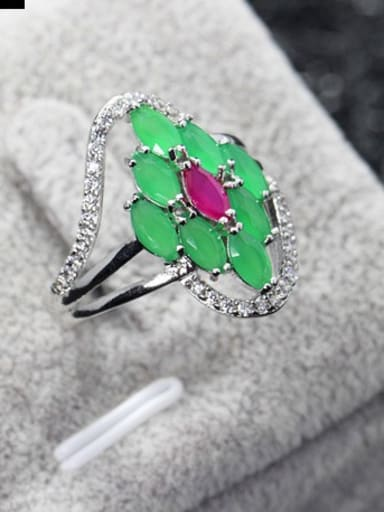 Fashionable Zircons Multistone ring