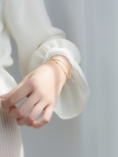 925 Sterling Silver With 18k Gold Plated Bangles