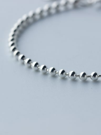 S990 Sliver Simple Fashion Personality Small Ball Bracelet