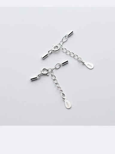 925 Sterling Silver With Silver Plated Classic Snap Settings Connection button