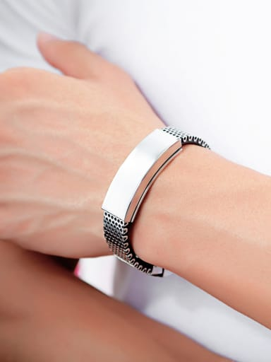 Stainless Steel With Simplistic Square Bracelets
