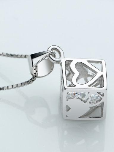 Hollow Box Arrow and Heart Fashion Pendant
