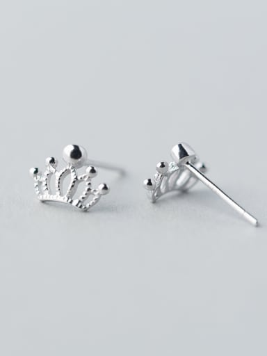 S925 Silver Sweet Queen Crown Small stud Earring