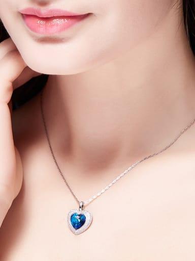 Swarovki Crystals Heart Shaped Necklace