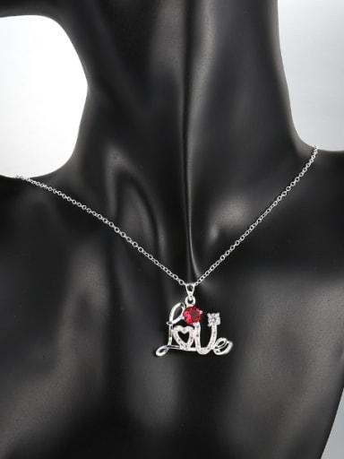 Fashion LOVE Zircon Women Necklace