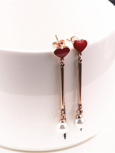Temperament Heart-shape Drop Earrings
