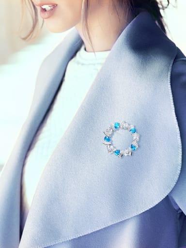 2018 Blue Swarovski Crystals Brooch