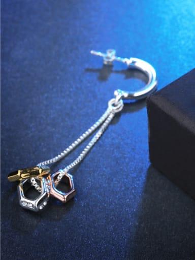 Delicate Multi-color Geometric Shaped Drop Earrings