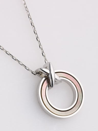 925 Sterling Silver With Enamel Simplistic Round Necklaces