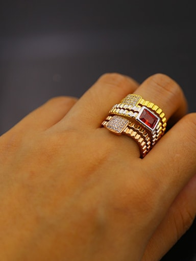 Multilayer Colorful Copper Stacking Ring