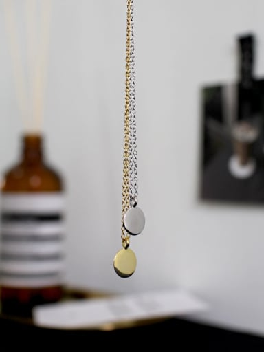 Sterling silver minimalist geometry small round peas necklace