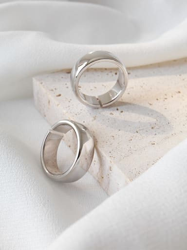 925 Sterling Silver With Silver Plated Fashion Round Rings
