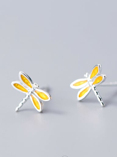 Sterling Silver cute Dragonfly Mini studs earring
