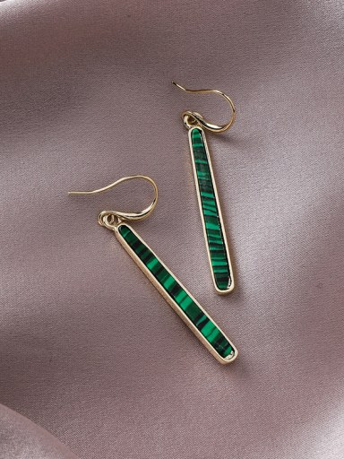Alloy With Gold Plated Simplistic Geometric Hook Earrings