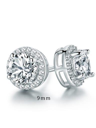 Women Round Zircon stud Earring