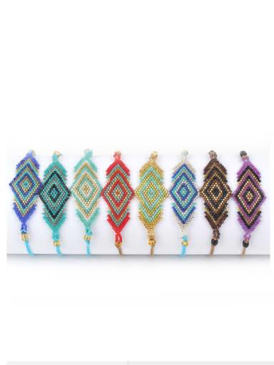 Colorful Glass Beads Fashion Woven Bracelet