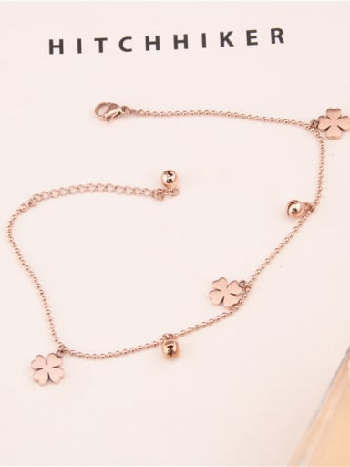 Clover Flower Fashion Simple Anklet