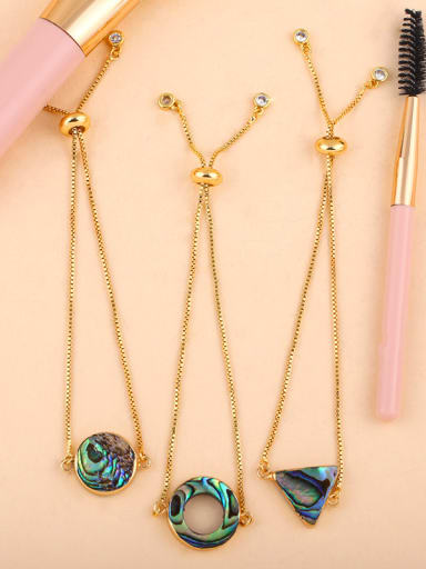 Copper With Shell Fashion Round/ Triangle Bracelets