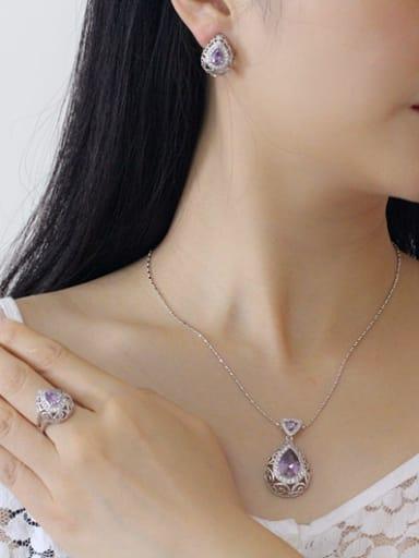Retro Wedding Accessories Color Jewelry Set