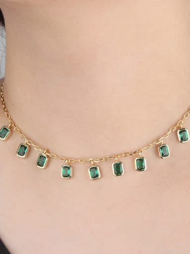 Copper With Cubic Zirconia Fashion Necklaces