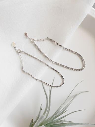 925 Sterling Silver Minimalism style Classic Bracelets