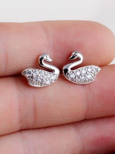 Gosling  AAA Zircon White Gold Plated  stud Earring