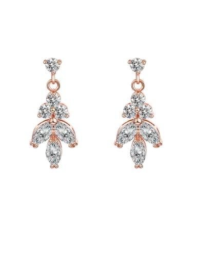 Alloy With Cubic Zirconia Simplistic Water Drop Drop Earrings