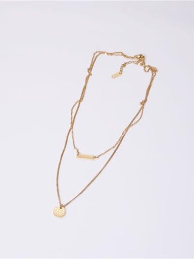 Titanium With Gold Plated Simplistic Geometric Multi Strand Necklaces