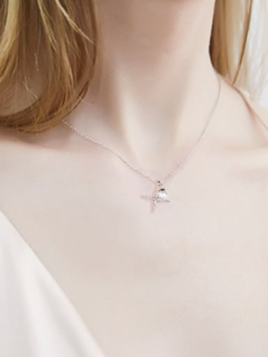 Simple Shiny Star Imitation Pearl Necklace