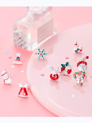 Christmas series :Sterling Silver sweet candy Christmas  lovely  Earrings