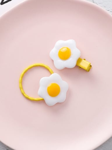 Alloy With Gold Plated Cute Flower  Hair Clip, Hair Rope, Two-Piece Set