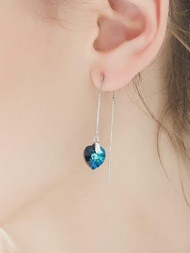 S925 Silver Heart-shaped Tassel Ear Lines