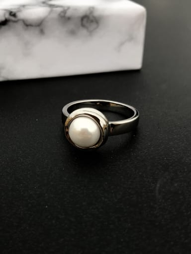 Copper With 18k White Gold Plated Classic Ball Rings