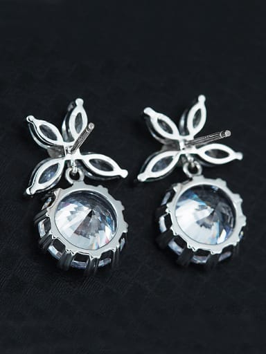Simple Shiny Zircon Stud Earrings