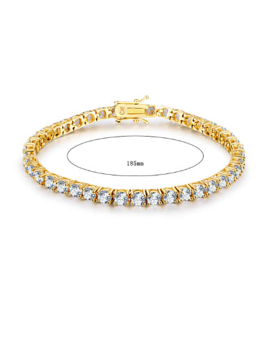 2018 2018 Gold Plated Zircon Bracelet