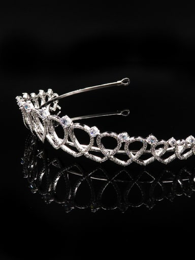 Hollow Heart-shape Micro Pave Zircons Hair Accessories