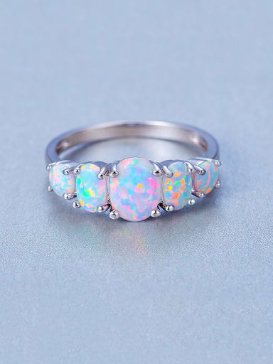 High-grade Opal Stone Multistone ring